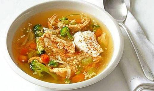 Receta de Sopa de pollo y quinoa