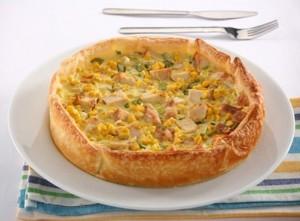 Tarta de pollo y choclo bajas calorías