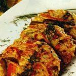 Tortilla de pollo y fideos