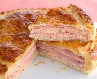 Pastel de pollo y jamón