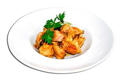 pollo-frito-con-ajos