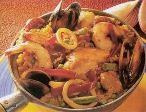 arroz con pollo y mariscos