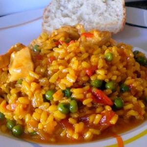 rico-plato-de-pollo-al-azafrán