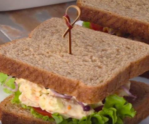 Receta de sandwich de pollo y zanahoria